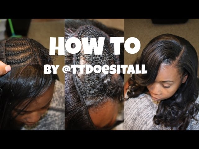 Side Bang Sew In Start To how i did my sister s full sew in with ...