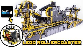 HUGE lego technic figure rollercoaster  --with GOPRO camera ride--