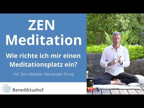 #Wie richte ich mir einen Meditationsplatz ein? Von Zenmeister Alexander Poraj