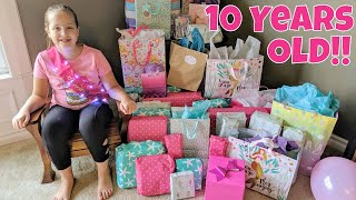 Leahs 10th Birthday Opening Presents!!