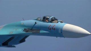 ロシア空軍のSu-27にインターセプトされるNATO軍機-RussianAirForceSu-27Intercept
