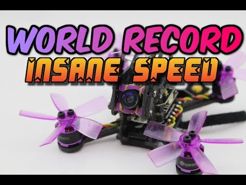 WORLD RECORD! WORLDS FASTEST MICRO DRONE $126- Eachine Lizard95 review