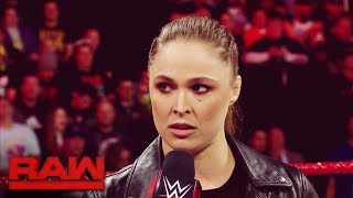 Ronda Rousey's Road to WrestleMania: Raw, March 12, 2018 - Video Youtube