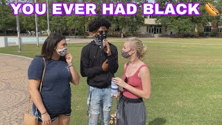 ASKING WHITE GIRLS ABOUT BLACK GUYS 👱🏻♀️💁🏾♂️ (PUBLIC INTERVIEW)‼️‼️‼️‼️