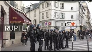 LIVE: Protest hits Paris day before presidential elections