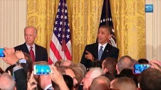 """Obama: """"Shame on you"""" to White House heckler; WhiteHouse.gov"""