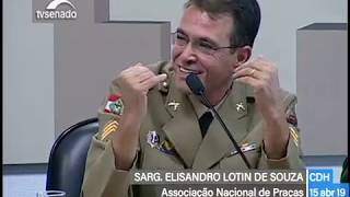 Sargento Lotin  na Comissão de Direitos Humanos do Senado e a Reforma da Previdência Social