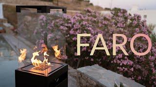 Faro Garten Gaskamin Feuerstelle mit Rollen