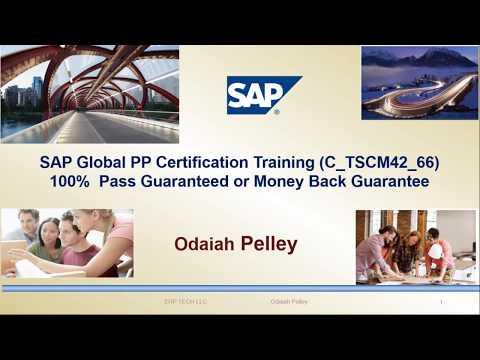 SAP PP Certification C TSCM42 66 - YouTube