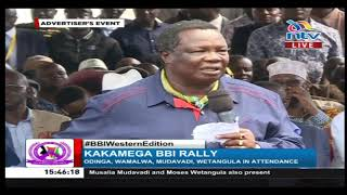 """Mnatudanganya"": Francis Atwoli challenges Mudavadi and Wetangula   BBI in Kakamega"