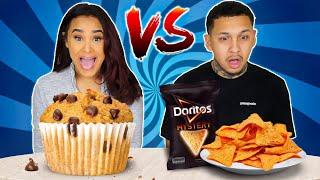FLUFFY VS FLAT FOOD CHALLENGE!