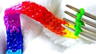 Rainbow Loom-Pulseira De Elásticos com o garfo-Loom Bands Bracelet