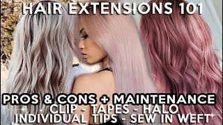 EVERYTHING YOU NEED TO KNOW ABOUT HAIR EXTENSIONS    5 TYPES + BRANDS I LIKE & DISLIKE