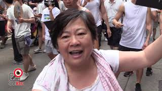 09JUN2019反送中大遊行市民對林鄭不滿氣憤難平