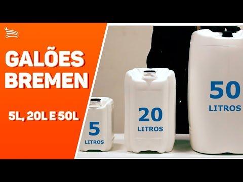 Galão de Polietileno Branco para Gasolina com 5 Litros - Video