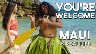 Mauis Youre Welcome From Disneys Moana/Vaiana | Official WWL In Real Life Music Video