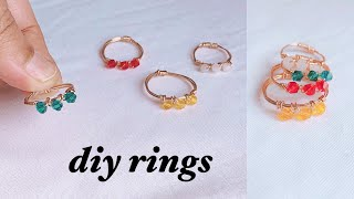 Diy Rings/wire Wrapped Ring Making/wire Wrapped Crystal Rings For Beginners/sriya Creations