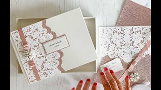 Luxury Wedding Guest Book To Make At Home - Personalised Guest Book