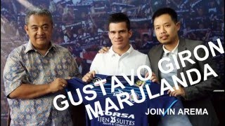 GUSTAVO GIRON MARULANDA PEMAIN BARU AREMA GOLGOL SEBELUM DI AREMA & GOL DEBUT BAGI AREMA