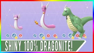 OMG YASSSS! PERFECT SHINY DRAGONITE SECURED! SHINY 100% IV DRAGONITE IN POKEMON GO! SHINY DRATINI