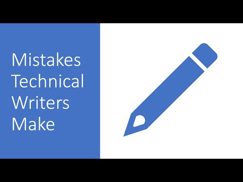 Mistakes Technical Writers Make