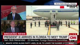 Menendez on CNN Discusses N. Korea & Trump Meeting with Chinese President