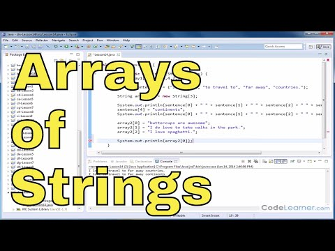 Java Tutorial - 14 - Arrays of Strings