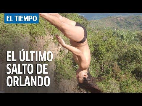 Asi fue el ultimo salto de Orlando Duque de su carrera