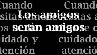 Friends Will Be Friends Subtitulado En Español