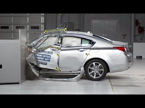 2012 Acura TL Overlap IIHS Crash Test Video