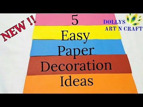 NEW !!! 5 Easy Paper Decorations I DIY Ganesh Chaturthi Special Decoration Ideas|Ganpati Decorations