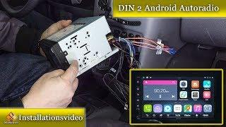 DIN 2 Android Autoradio ohne Rahmen einbauen / Doppel DIN Radio Einbauanleitung