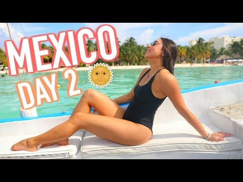 MEXICO DAY 2 – Snorkeling, Holding a Shark, & Boat Rides!