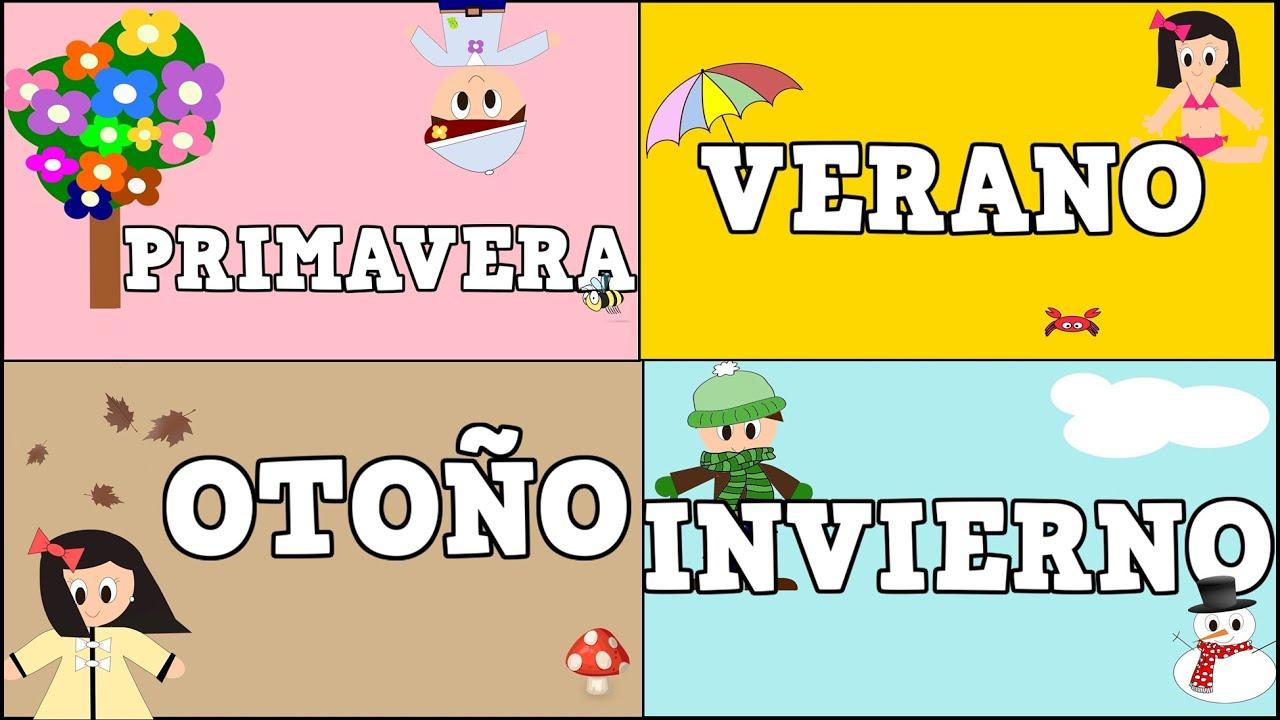 Las Cuatro Estaciones del Año - Four Seasons in Spanish  for Kids -Vídeos educativos