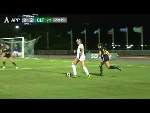 Charlotte 49ers Women's Soccer vs. App State Game Highlights