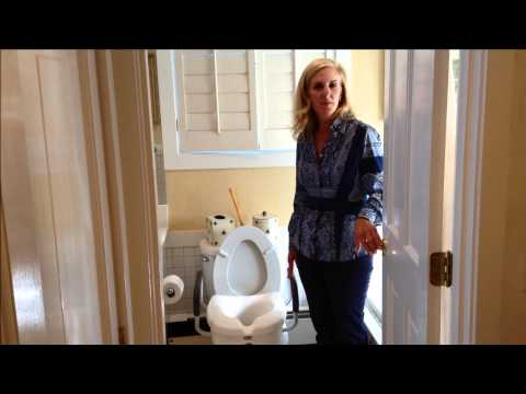Raised Toilet Seat Safety Tips Here's a video to help with raised toilet seat safety.