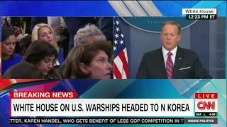 Spicer employs creative logic while trying to explain armada gaffe
