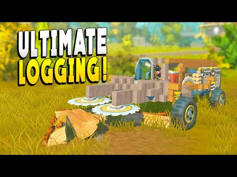Ultimate Logging Machine and New Cosmetics! - Scrap Mechanic Survival - Early Access