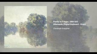Partita in F major, GWV 835
