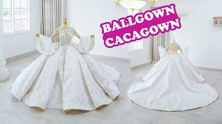 WHITE PREMIUM BALLGOWN WEDDING DRESS By CACAGOWN