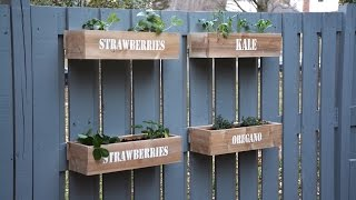 Painting A Fence And How To Make A Hanging Fence Garden - Thrift Diving