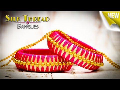 Beautiful Handmade Silk Thread Bangles Using Pearls | Latest Silk Thread Bangles | #2