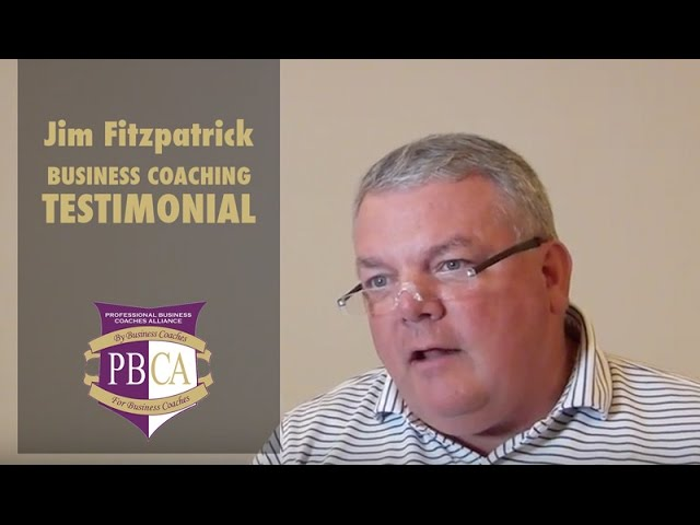 Jim Fitzpatrick | Business Coaching Testimonial