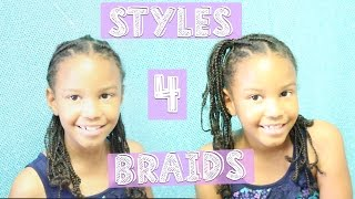 8 SIMPLE Styles For Kid Braids + Our Nighttime Routine