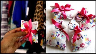 DIY Wardrobe Scented Sachets/ Pouches || #100dayswithsowbii DAY13