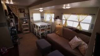 How we renovated our travel trailer then moved into it full time.