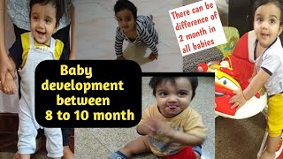 My 8month old baby activities and growth  development(Miggi baby)