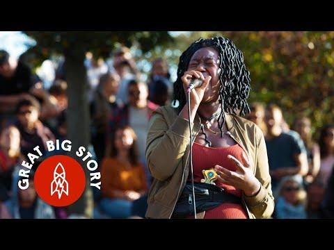 Singing Karaoke in the Park