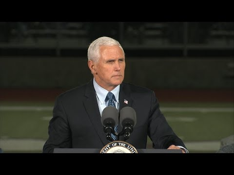 Vice President Mike Pence speaks at vigil for Texas church shooting victims