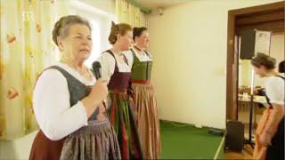 Beitrag über den Dirndl / Mieder Nähkurs mit Rosmarie Henke, BR - Schwaben und Altbayern 12.10.2014